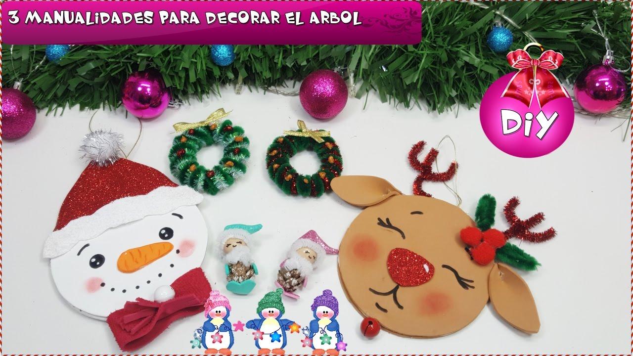 3 Diy Fáciles Para Decorar El árbol Manualidades Navidad Para Niños