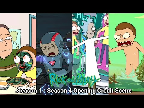 Rick and Morty Season 1 - Season 4 Opening Credits (2013 - 2019) Theme Song with Updated Credits