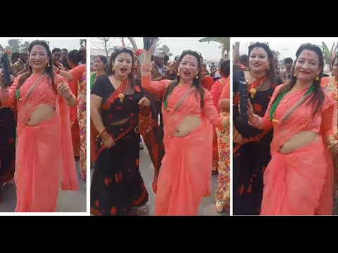 Download desi nepali aunty deep navel belly show dance