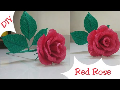 Diy Red Rose Making Rose Crepe Paper Flowers Rome Decor Ideas Rose