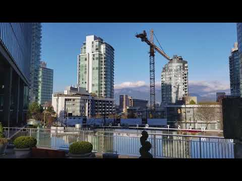 Vancouver STREET END-TO-END WALK: ALBERNI Heading West from Burrard St. to Lost Lagoon, Stanley Park
