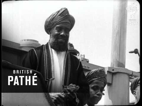 Sultan Of Zanzibar's Trip In British Submarine (1929)