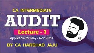 CA INTER AUDIT LEC 1  May/Nov 20   BY CA HARSHAD JAJU