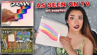 I Tried Weird Infomercial Art Supplies From My Childhood *20 years later lol*