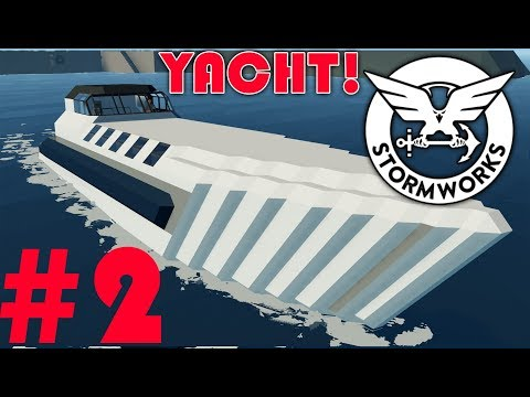 Two Aircraft Engines  - Stormworks Build and Rescue  -  Yacht  -  Part 2