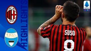 Milan 1 0 Spal | Suso Strike Seals Victory For Milan | Serie A