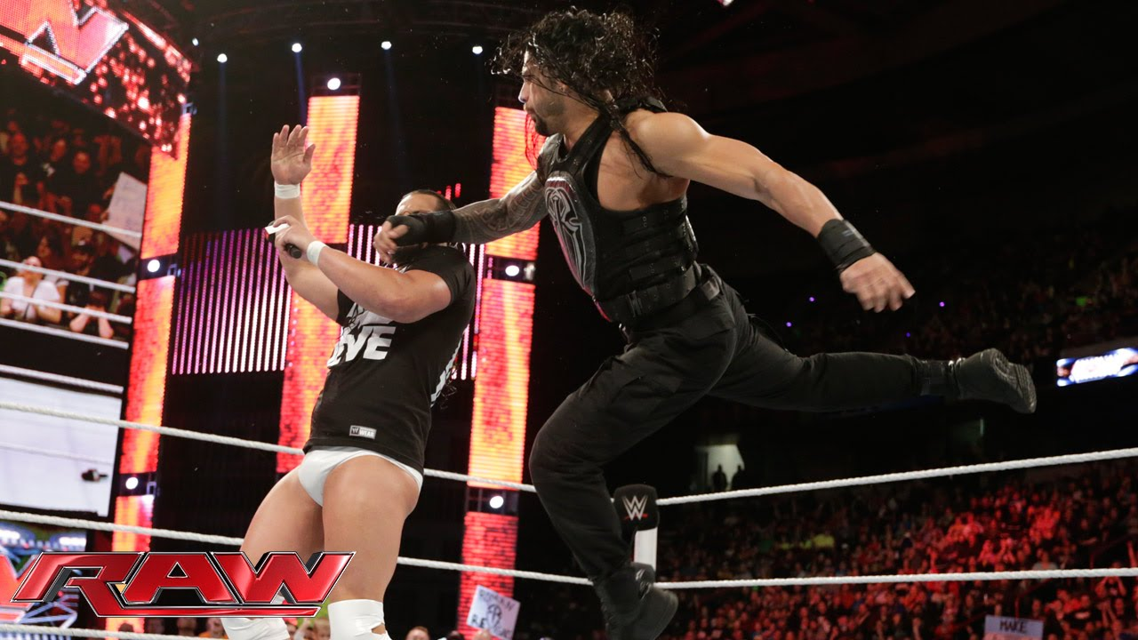 ... offers some advice to Roman Reigns: Raw, April 20, 2015 - YouTube