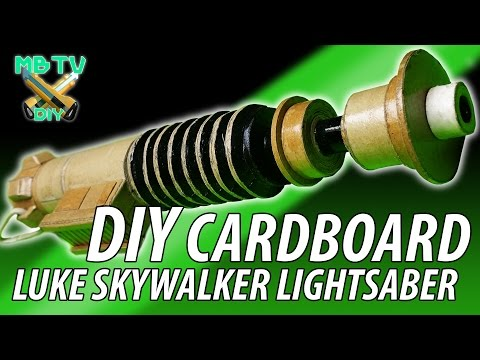 Luke Skywalker Star Wars Diy Cardboard Lightsaber