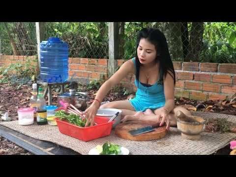Thumbnail: Yummy Yummy Food! Cute Girl Cooking Soup From Fish with Waterlily-How To Cook Yummy Fish Soup