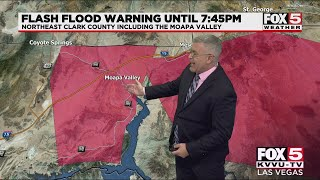 Flash flood warning issued for parts of Las Vegas, Henderson