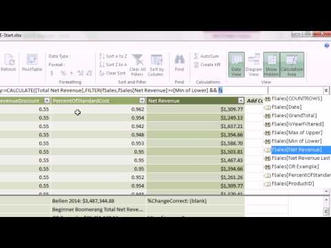 Excel 2013 PowerPivot Basics #10: CALCULATE function to Change Filter Context (14 Examples)