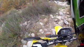 Dirt Bike In A Skate Park, Crazy Trail To Natural Hot Springs, And Mini DR200 Jumps