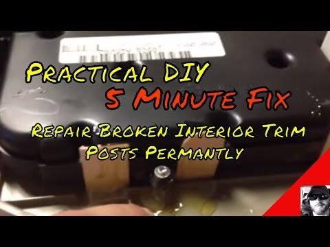 interior pillar trim loose falls down fix 39 how to 39 doovi. Black Bedroom Furniture Sets. Home Design Ideas