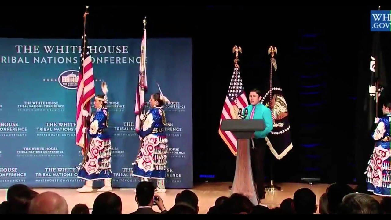 Tyler thurmond sings flag song at 2015 white house tribal for Tribal house music 2015