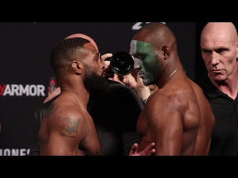 UFC 235 Ceremonial Weigh-Ins: Tyron Woodley vs. Kamaru Usman