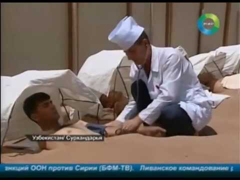 В узбекской пустыне Каттакум болезни лечат с помощью песочных ванн