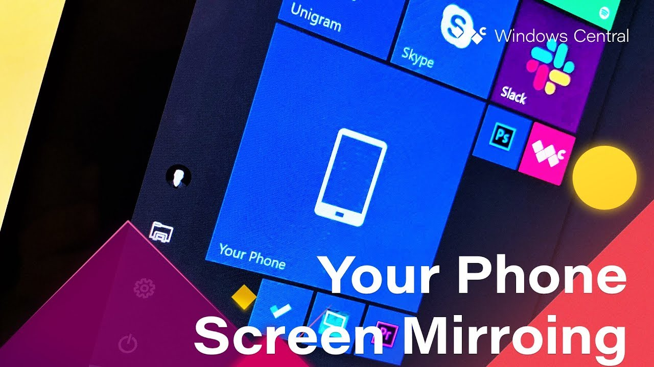 Phone Screen Mirroring With Your Phone on Windows 10 Hands-On