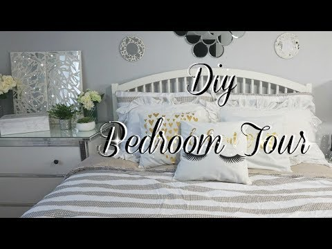 ROOM TOUR  WITH DIY DOLLAR TREE GLAM DECOR