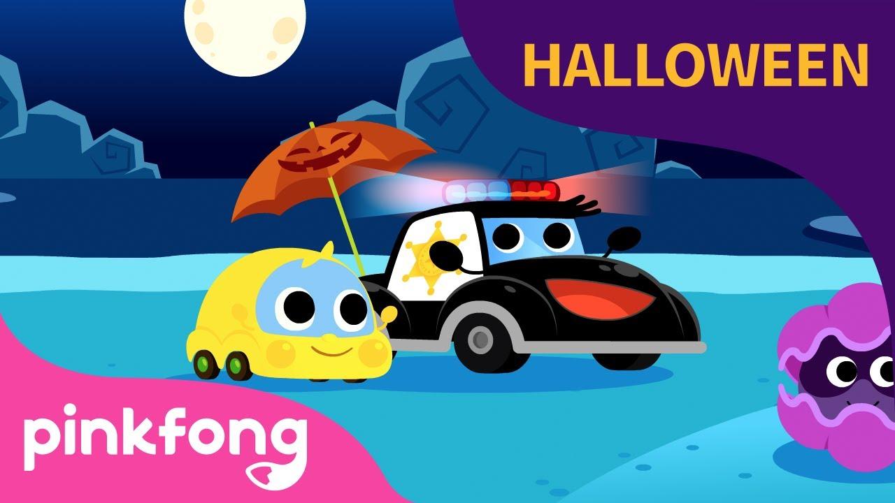 Patrulla y el Dulce de Halloween | Canciones de Halloween | Autos | Pinkfong Canciones Infantiles