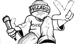 Drawing A Cholo Character- (By Wizard) -(Oldschool Mix 80