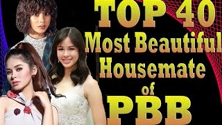 TOP 40 | Most Beautiful Housemate of PBB