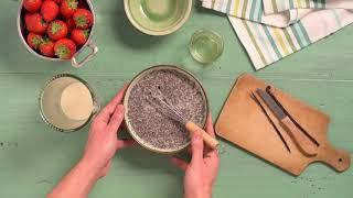 EXKi - Recette du mois - Juin - Pudding de chia aux fraises, poivron et basilic