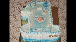 Торт единичка для мальчика.Вкусный торт.Как сделать торт.