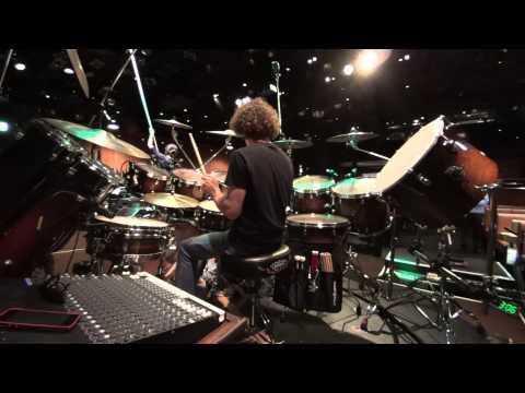 Simon Phillips_sound check @ COTTON CLUB, Tokyo, JAPAN.