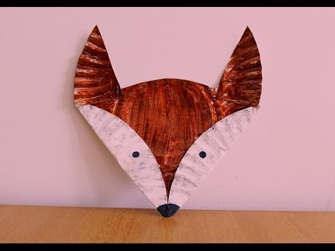 Paper Plate Fox Tutorial ~~ Kids Craft ~~ DIY ~ Step by Step Instructions .... - YouTube : fox paper plates - pezcame.com