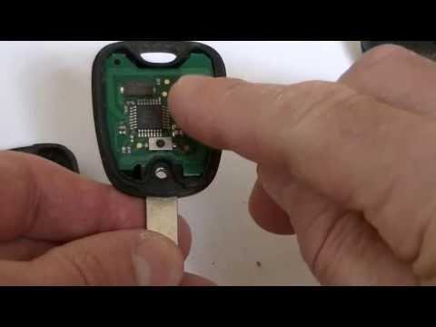 Peugeot  two button key fob 206,306 307.406, Repair battery change Fix