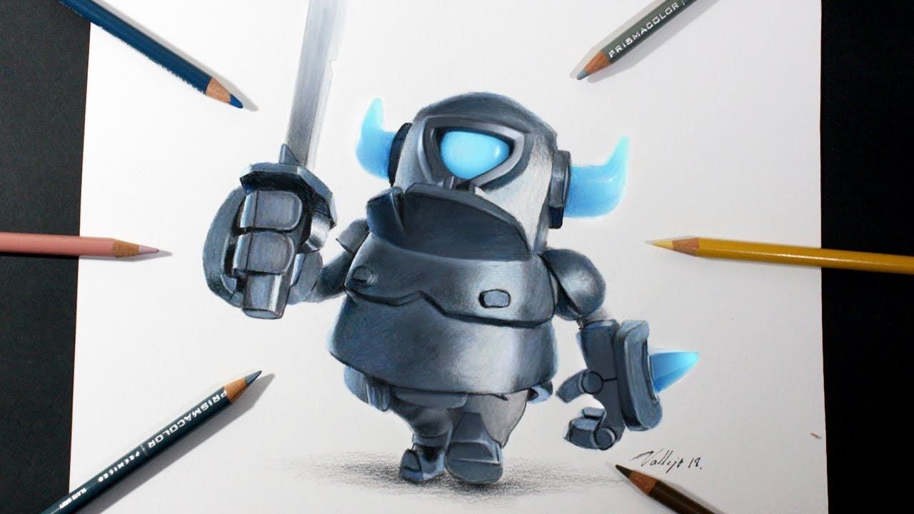 Dibujos Para Colorear De Clash Royale: Como Dibujo Al Mini PEKKA De Clash Royale