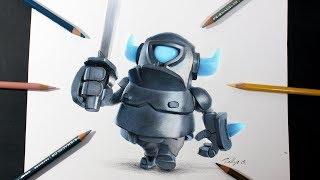 Como dibujo al Mini PEKKA de Clash Royale | How to draw Mini P.E.K.K.A.