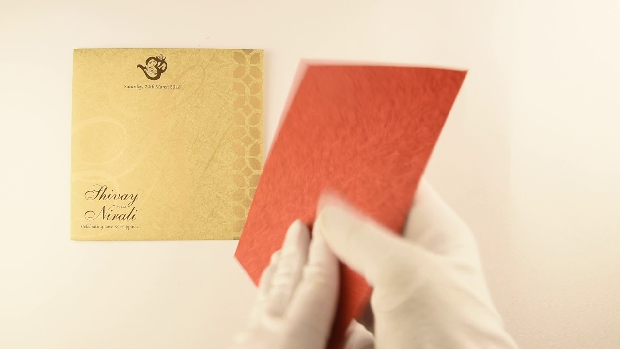 IWPC757, Red Color, Hindu Cards, Hindu Wedding Cards, Hindu Wedding ...