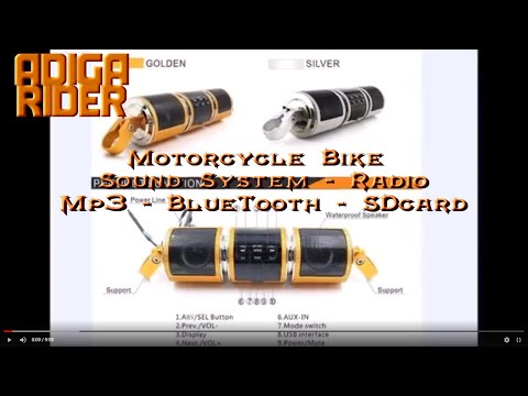 DIY - Motorcycle Speaker Audio Player MP3 Radio Bluetooth -  Install Review - By Vlad Adiga Rider