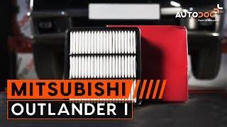 Hoe een luchtfilter vervangen op een MITSUBISHI OUTLANDER 1 HANDLEIDING | AUTODOC