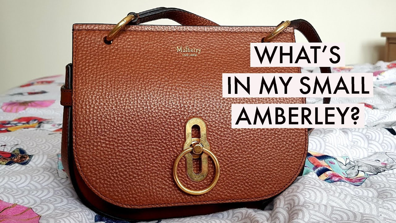 4f87339b4aa6 WHAT S IN MY MULBERRY SMALL AMBERLEY  - YouTube