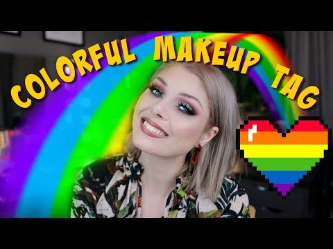 Colorful Makeup TAG - Favorite Colors To Wear & Go-To Palettes - 동영상