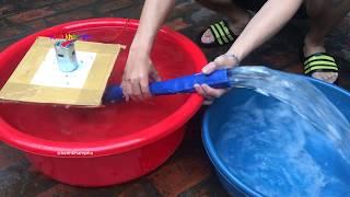 chế bơm nước ruộng bản v3 từ mô tơ 895 cực khỏe - how to make a water pump
