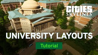 How to Build a Realistic University with Pres   Campus Tutorial   Cities: Skylines