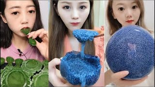 Eat ice cold ice food ASMR Relax eating sound #31