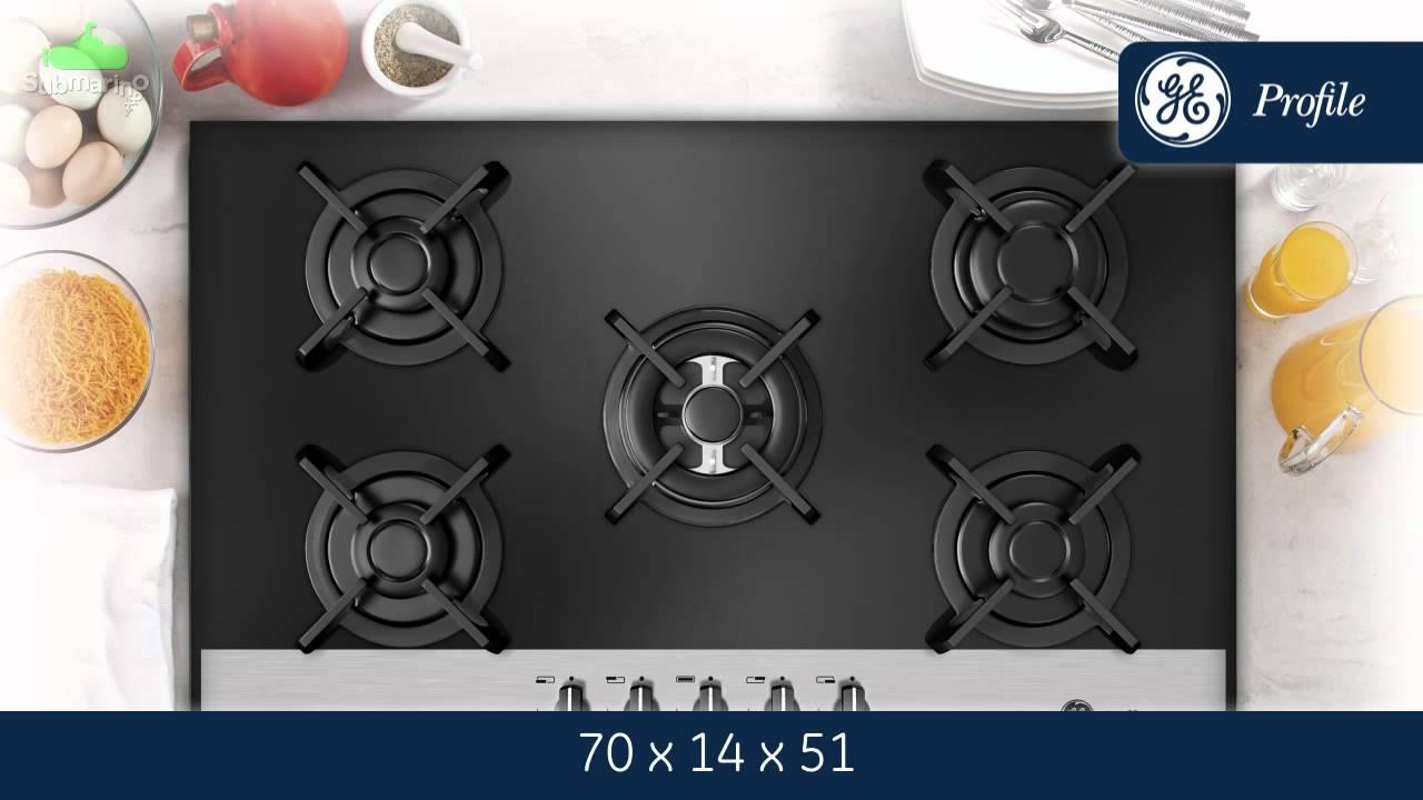 Cooktop GE Profile Glass A Gás 70cm   Submarino.com.br