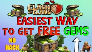 """Clash of Clans - EASIEST Way to Get FREE Unlimited Gems """"No Survey/No Hacks!"""" (March 2016)"""
