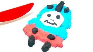 きかんしゃトーマス 粘土で作ってみよう!英語で色を覚えられるよ