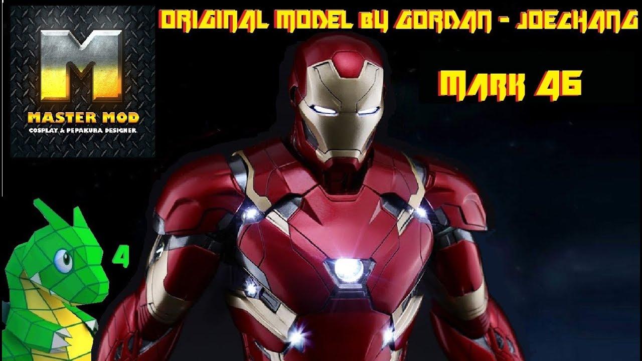 Iron Man Mark 46 Foam Armor By Gordan Pepakura Files