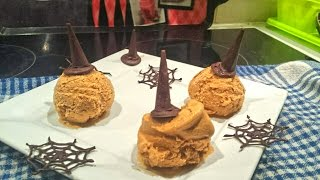 Vegan Pumpkin Ice Cream For Halloween