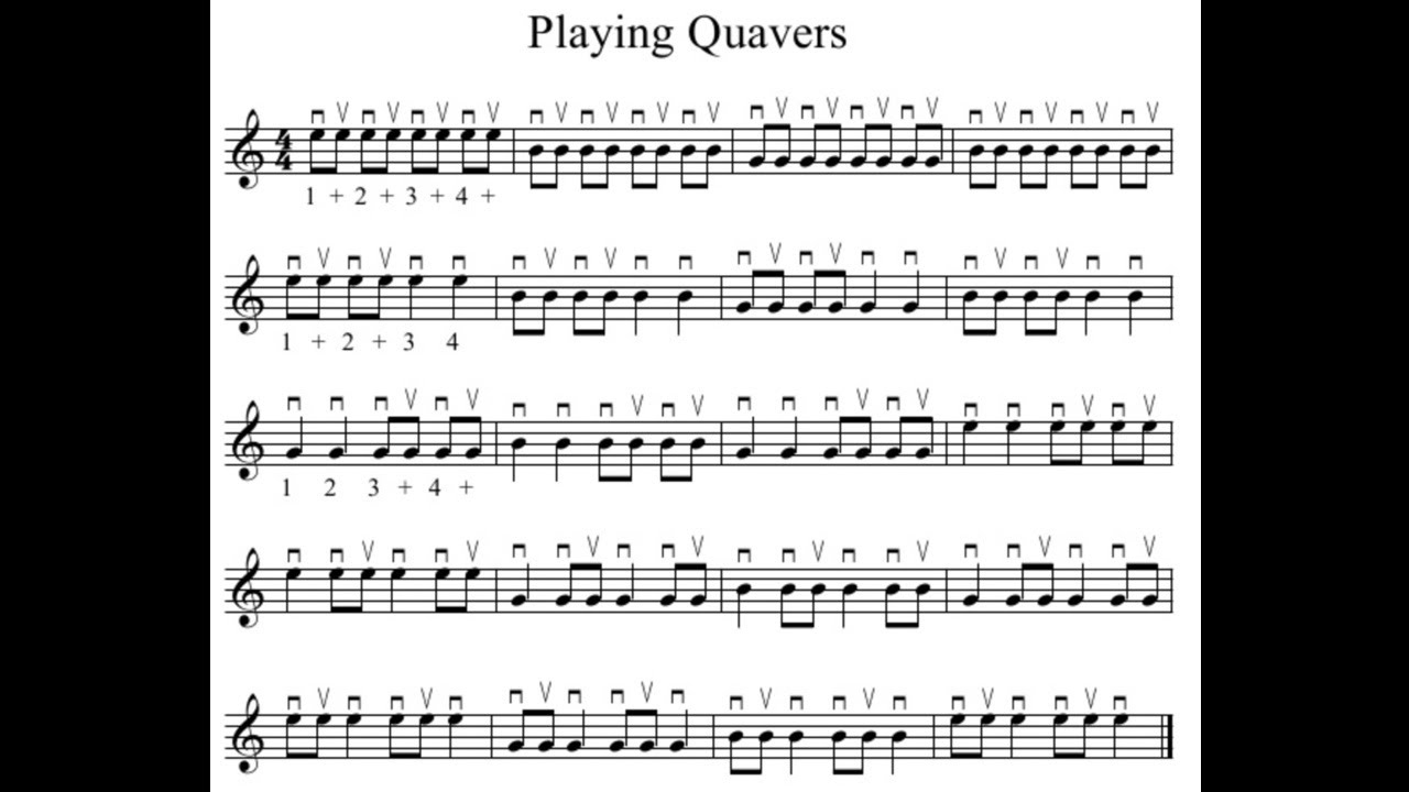 Playing Quavers 1