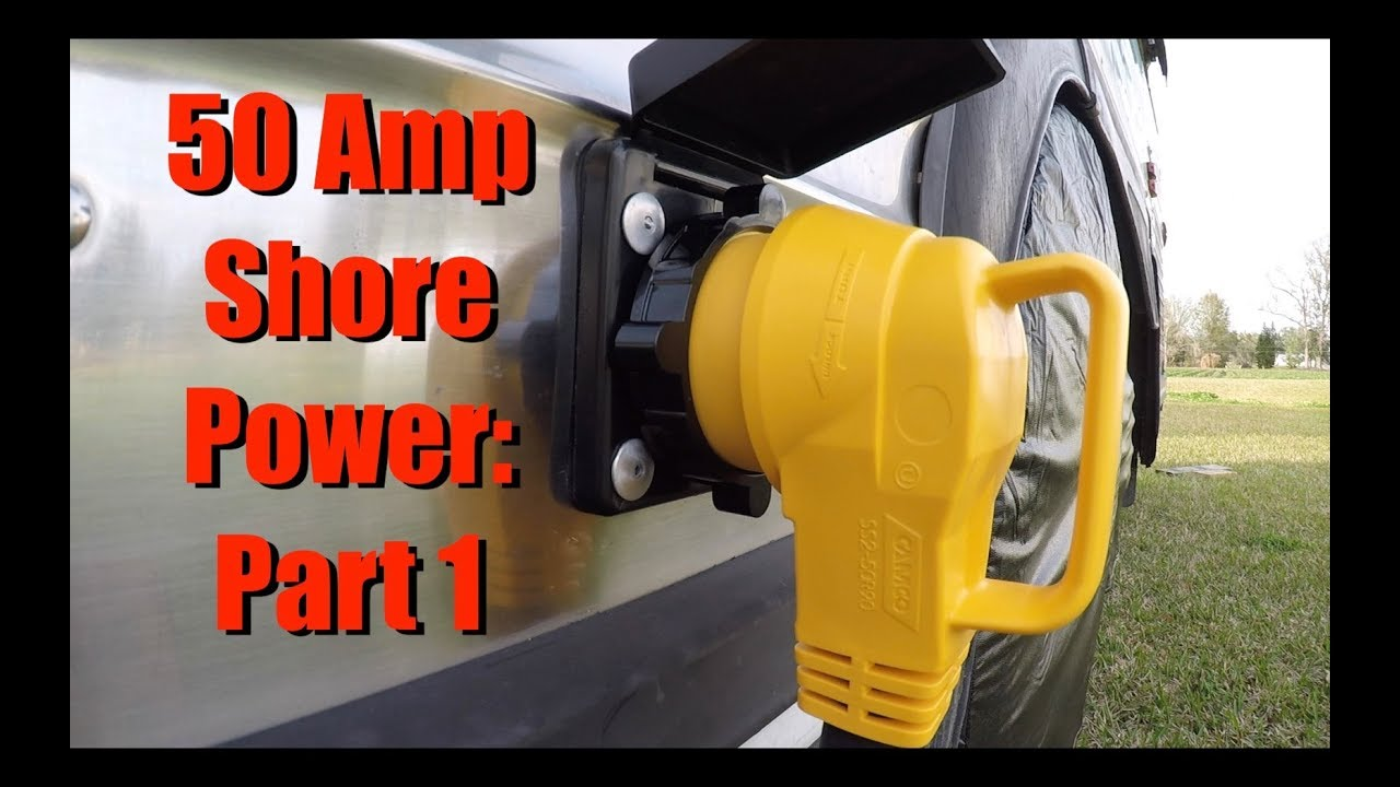 Bus RV Shore Power Series- Part 1 Install Shore Power Inlet 50A