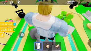 Roblox lifting simulator I speak because I'm sick a little quiet so switches on quite loud