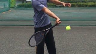 テニス フォアハンドストローク スピン量の調整の仕方 窪田テニス教室