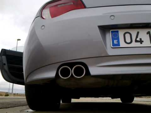 BMW Z4 30si original exhaust sound  YouTube